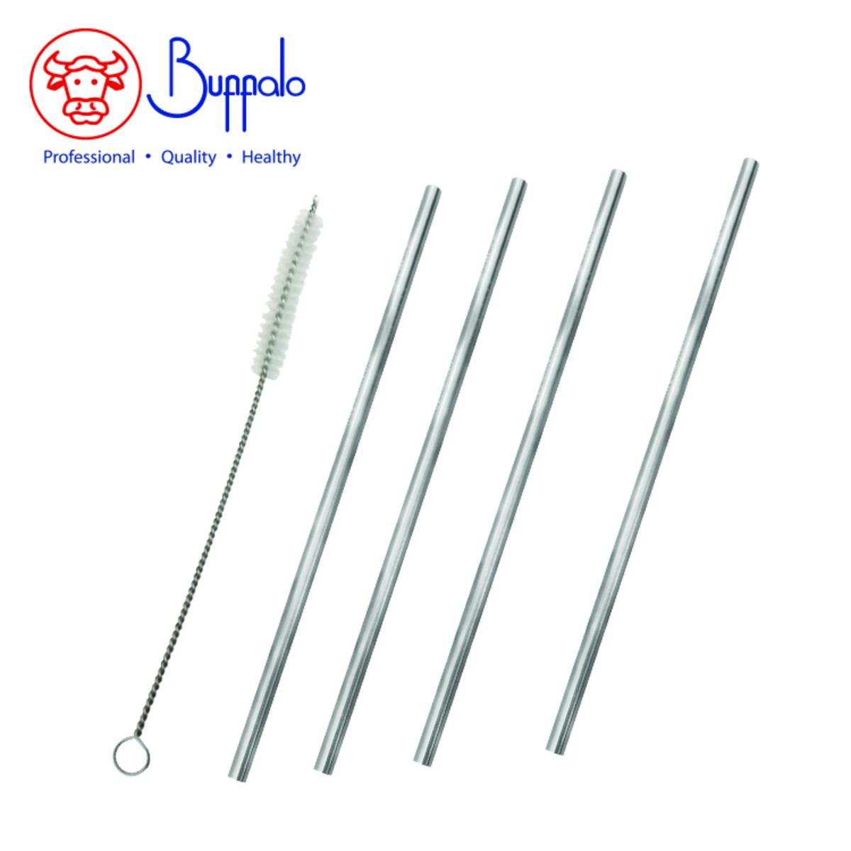 18/8 Stainless Steel Straight Straws 4PCS (BFS001-04)