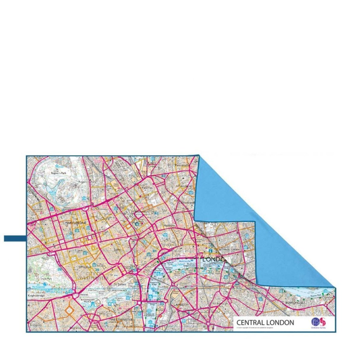 LMV SoftFibre OS Map Towel Giant Central London