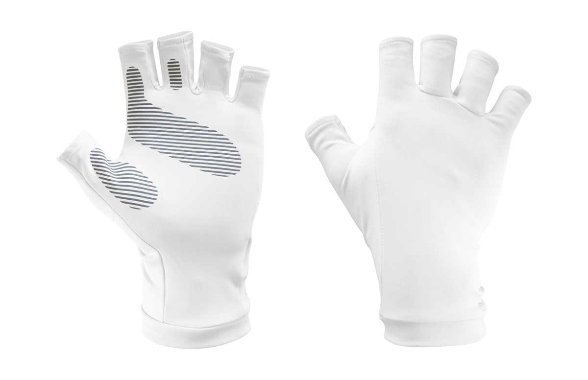 UV Shield Cool Gloves White L/XL