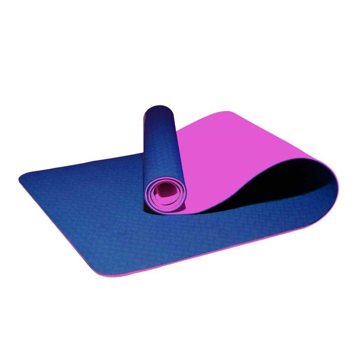 Tpe 2-Layer Yoga Mat 6mm Dark Blue/Purple