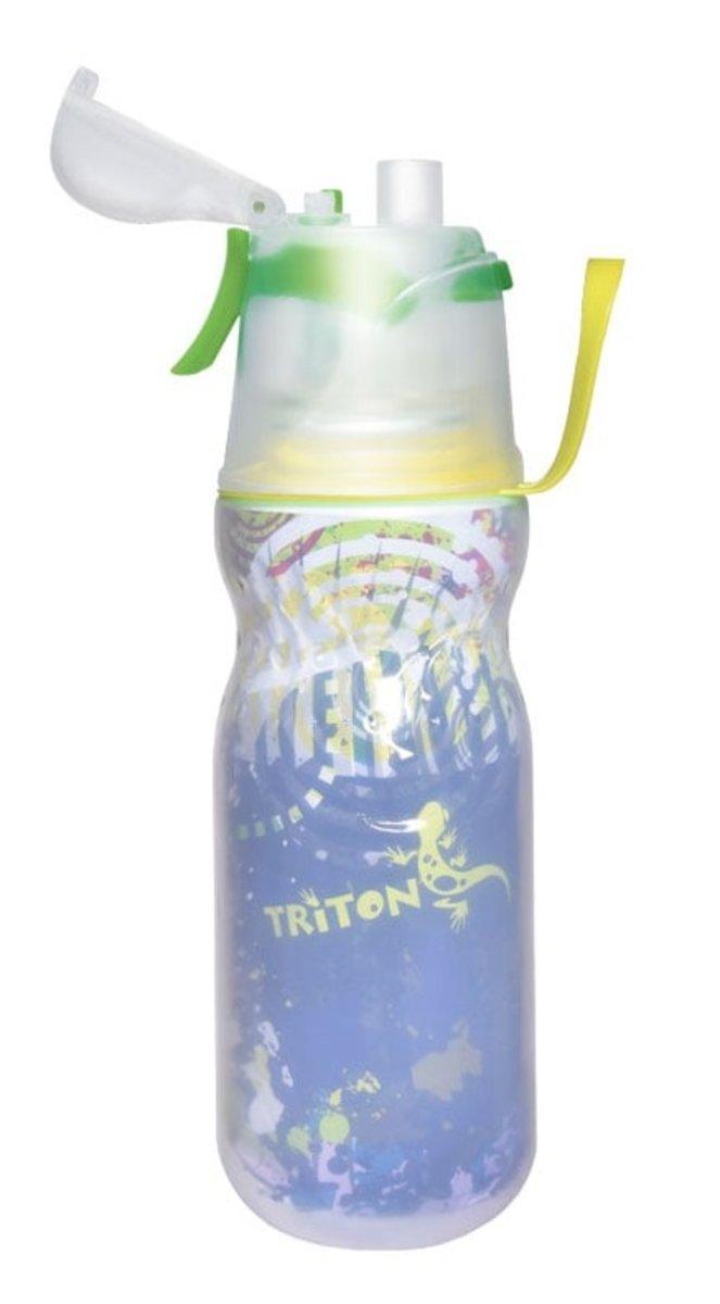 [新蓋設計]有蓋保凍噴霧安全鎖水樽 New Mist Cool Bottle 16oz Speed