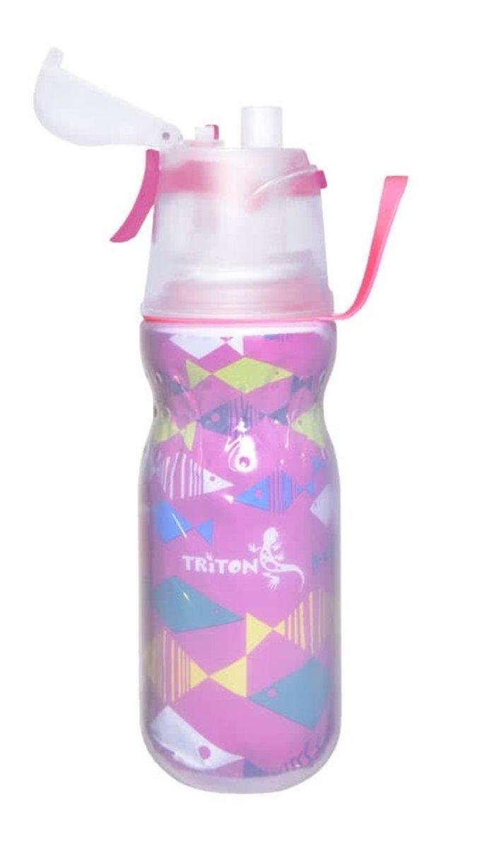 [新蓋設計]有蓋保凍噴霧安全鎖水樽 New Mist Cool Bottle 16ozFish