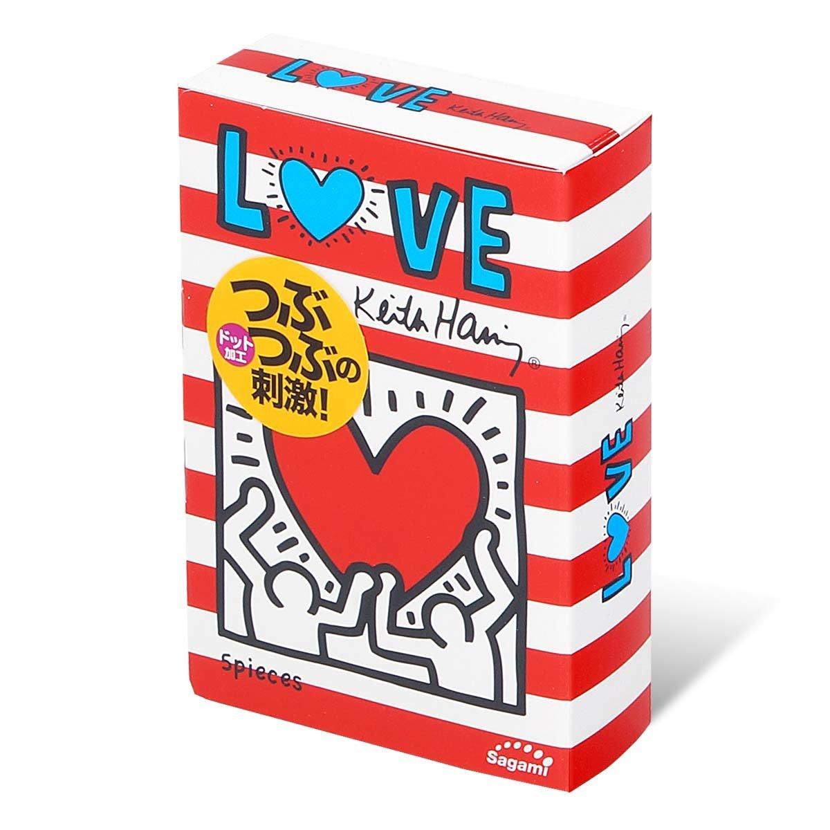 Sagami LOVE Keith Haring Dots 5's Pack Latex Condom