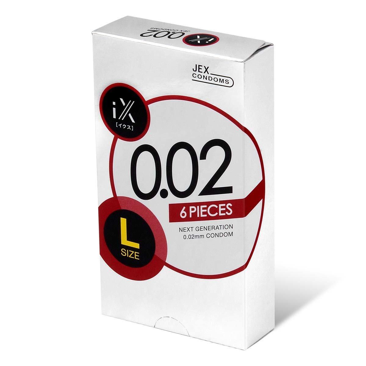Jex iX 0.02 L-size 6's Pack PU Condom