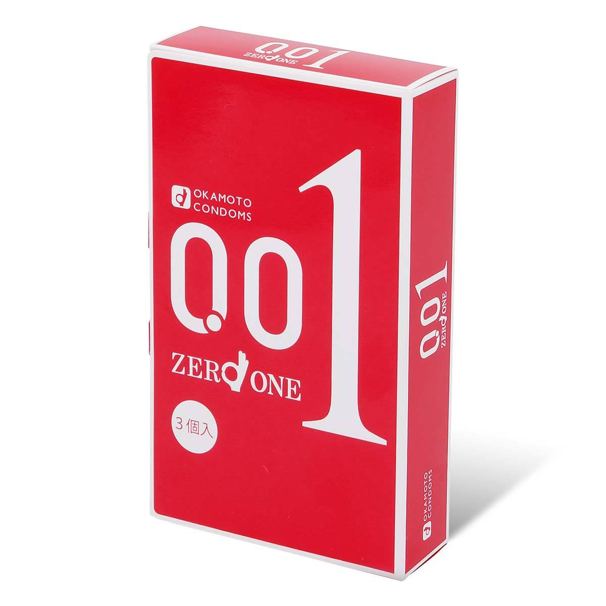0.01 L size 3's Pack PU Condom #imported from Japan