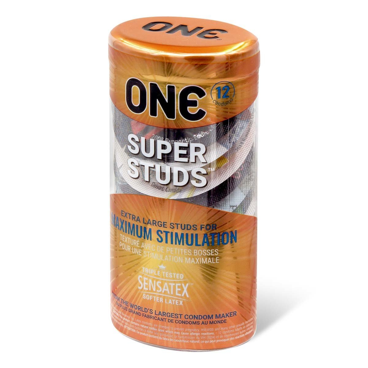 ONE Super Studs 12's Latex Condom