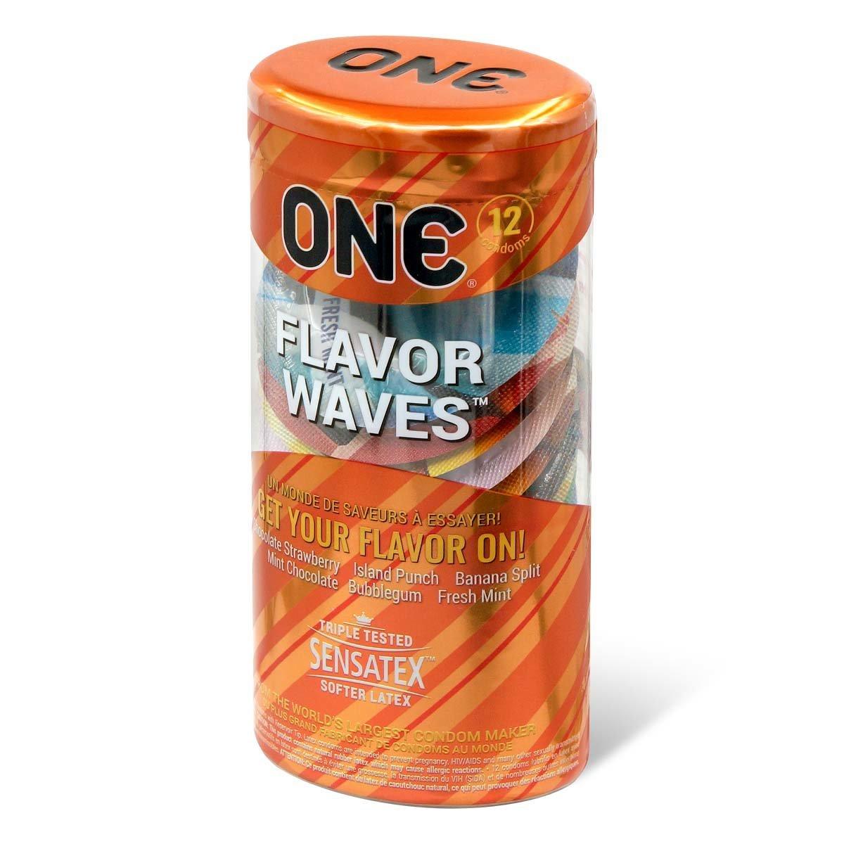 ONE FlavorWaves 12's Latex Condom