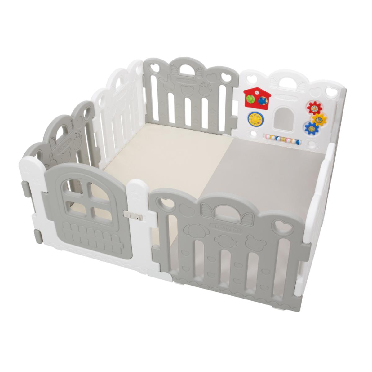 Haenim Toy Petit 8塊寶寶屋地墊套裝 - 灰 / 白