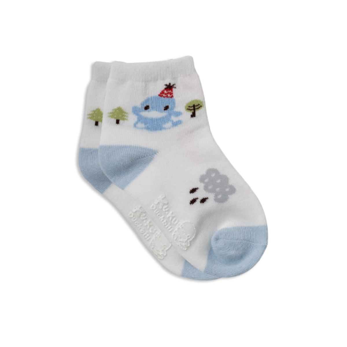 森林兒童襪 - 藍色 (size: S)