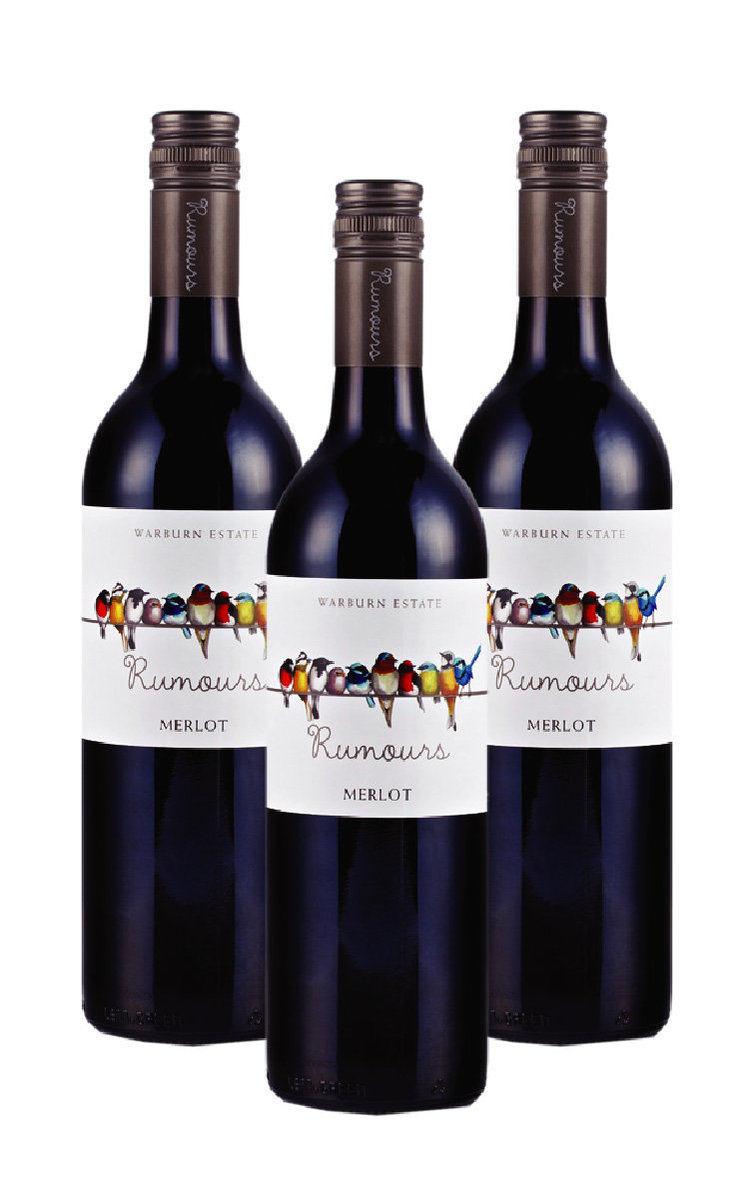 Rumours Merlot-2018 x 3 bottles