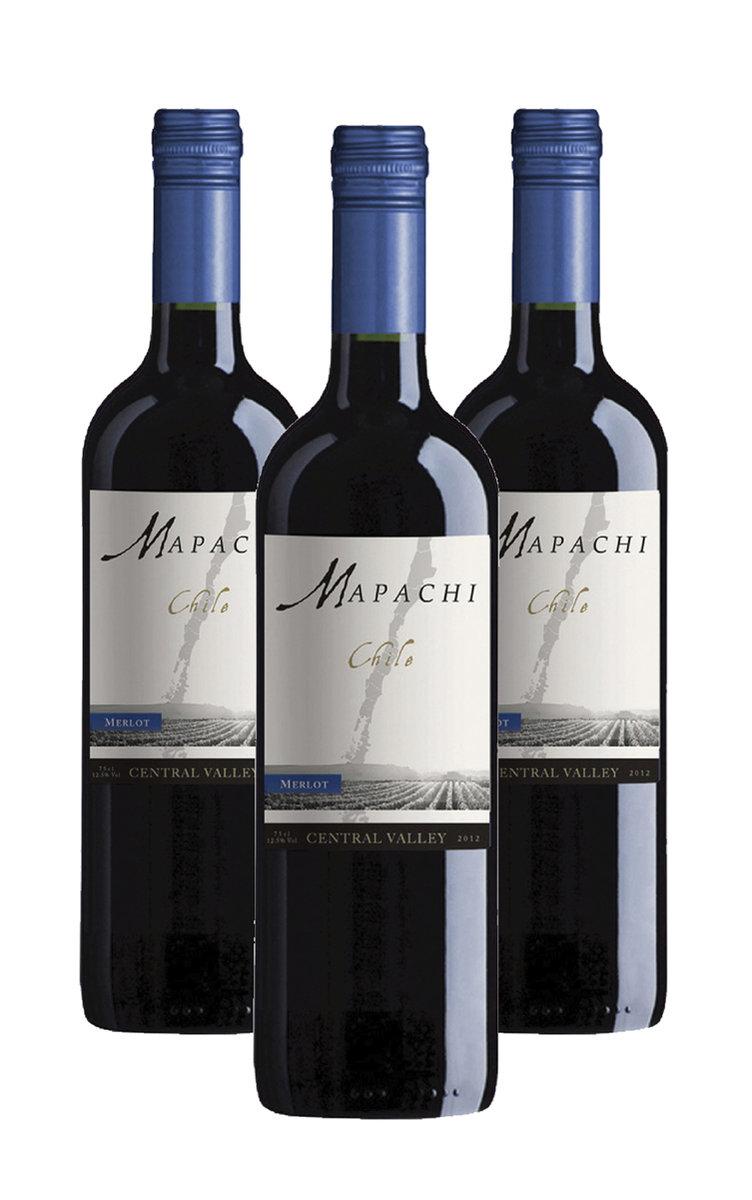 Mapachi Merlot-2017 x 3 bottles