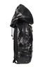 Waterproof Lightweight Zipper Backpack with Hood (Black)