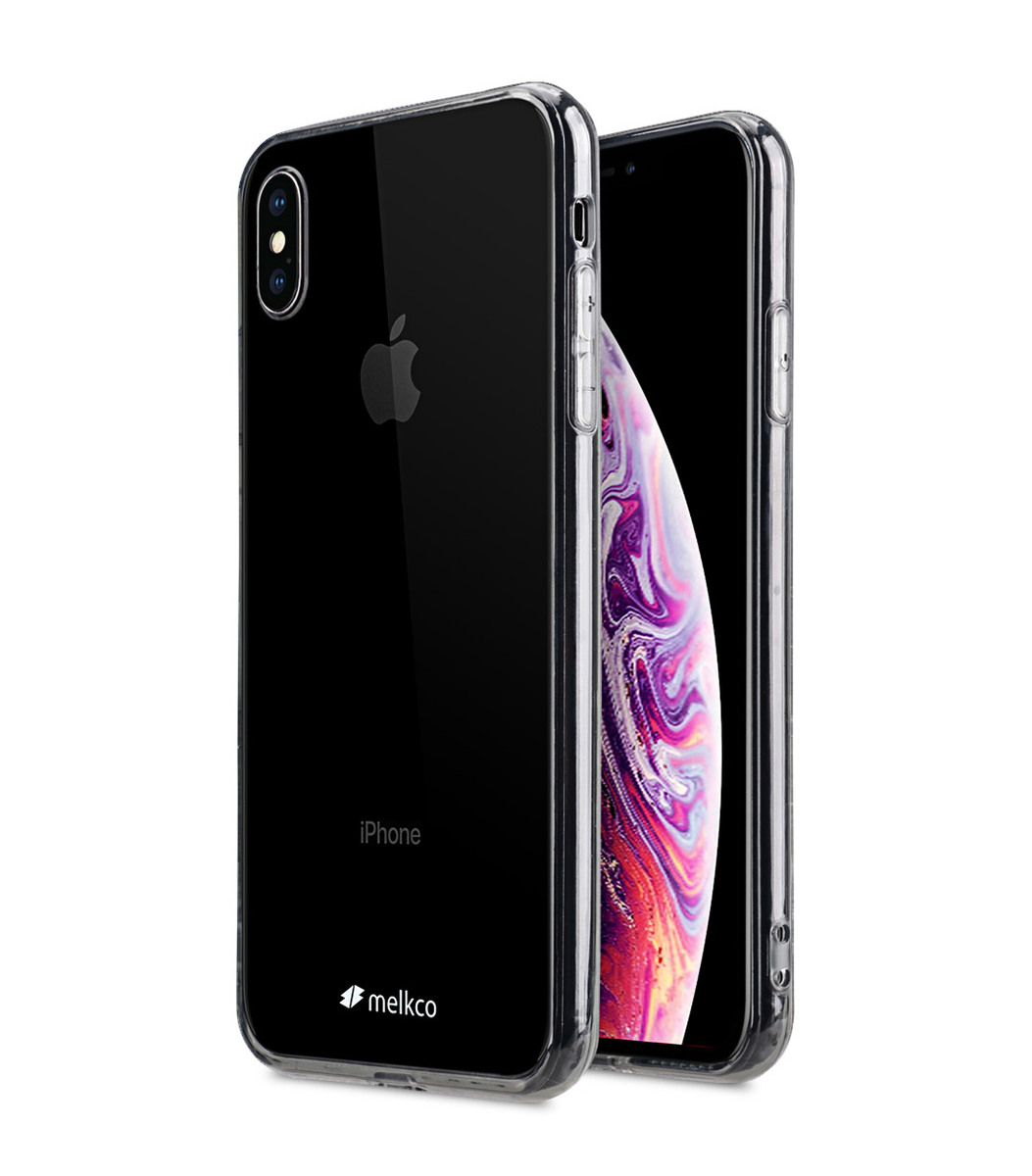Apple iPhone XS Max PolyUltima Case ( Transparent/Black )