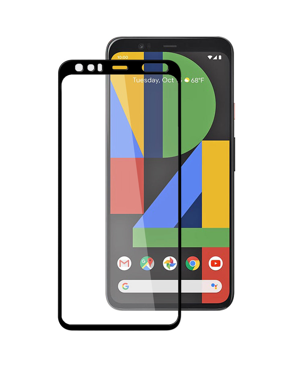 Google Pixel 4 3D Curvy Glass Screen Protector ( Black )