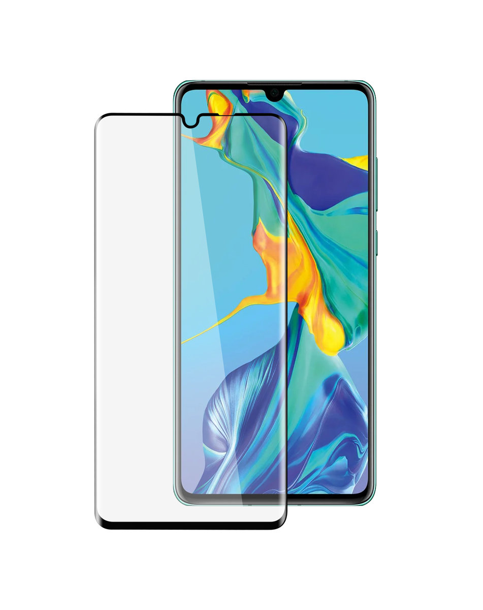Huawei P30 Pro 3D Curvy 9H Tempered Glass Screen Protector ( Black )