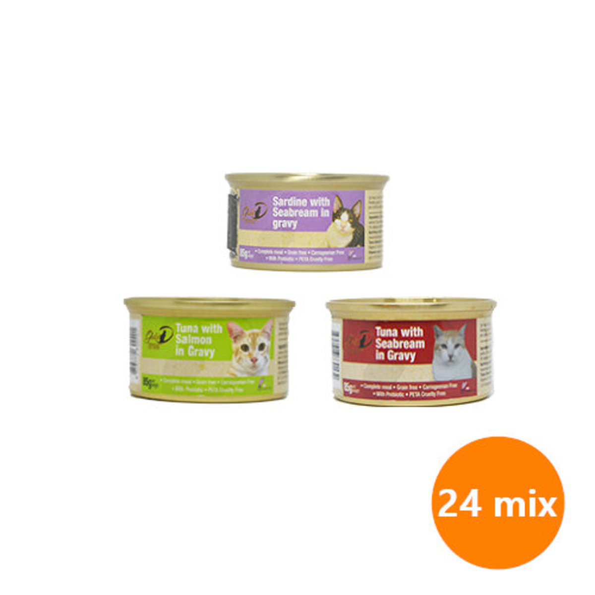 Complete Diet for Cats 85g 24-Mix