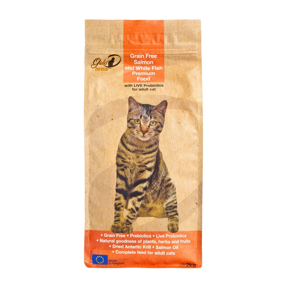 Salmon and White Fish Adult Cat Food 2KG