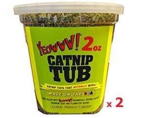 Yeowww! 優惠孖裝: 桶裝有機貓草 56.6克(2安士) - 美國製造
