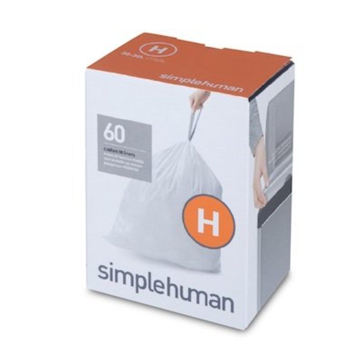 60個裝30-35L塑膠垃圾袋-H
