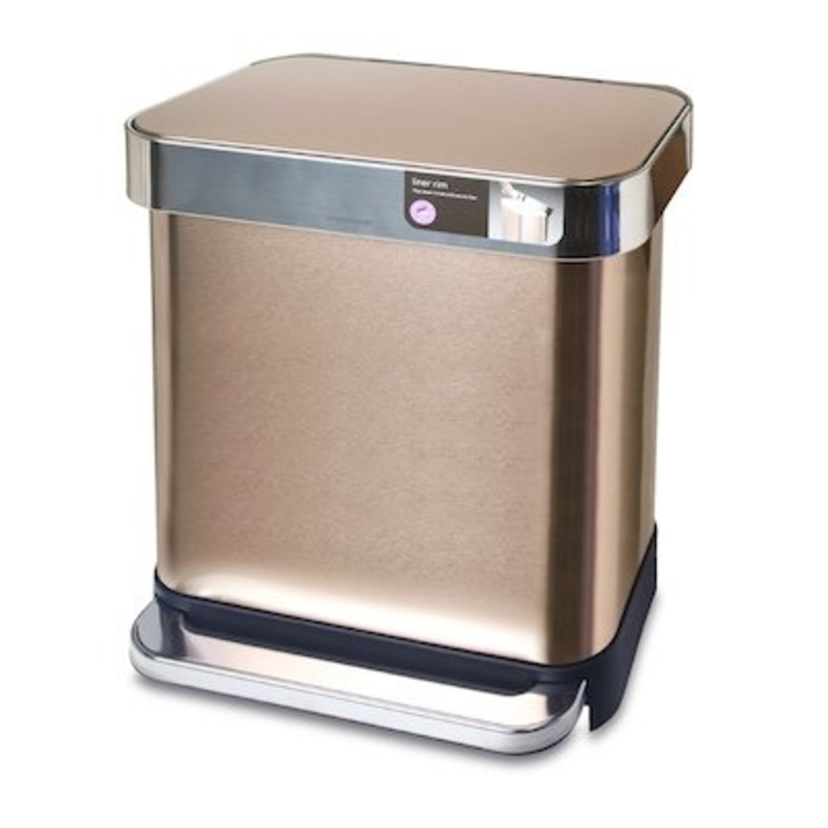 30L RECT STEPCAN-LINER F-GOLD【Authorised distributor import】