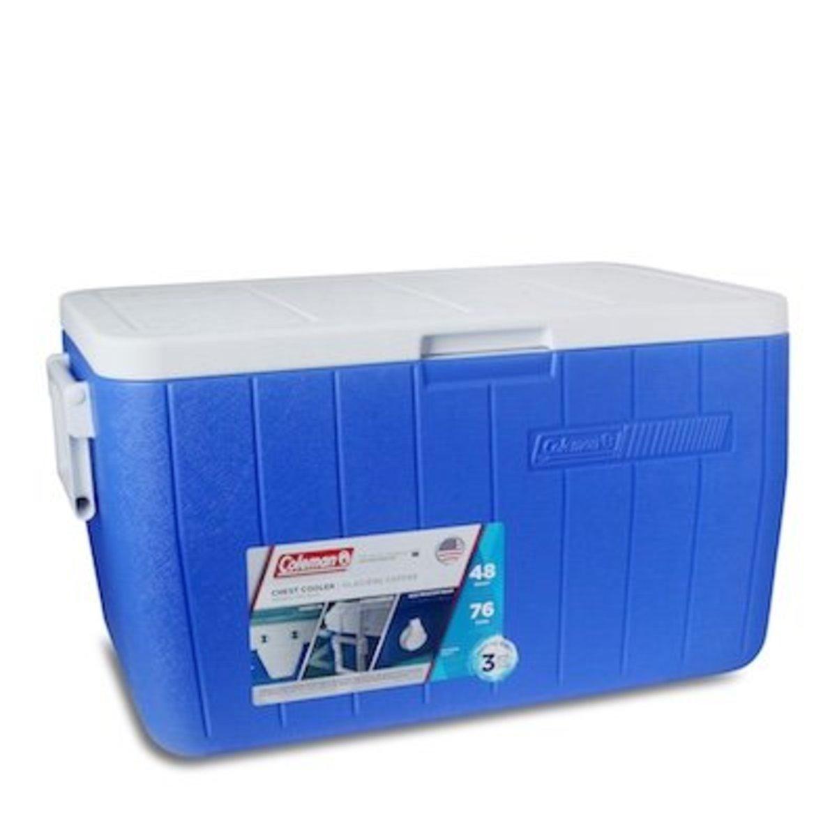 48Qt 45L塑料冰箱-藍色
