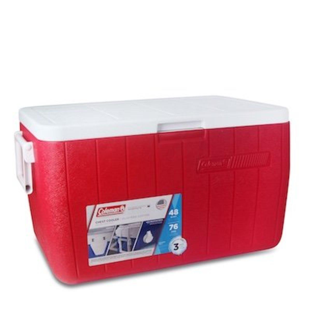 48Qt 45L Polylite Cooler-Red