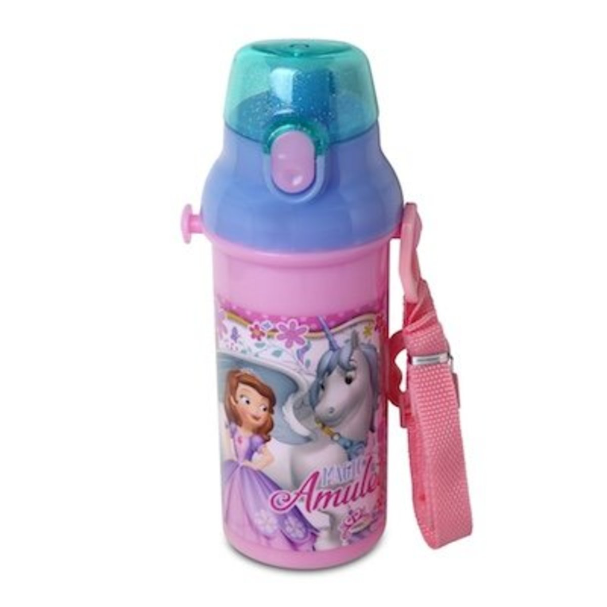 Disney Sofia the First 480ML One Touch Bottle [Licensed by Disney]