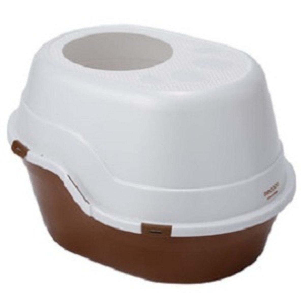 necoco封閉式單層貓廁所(棕色) #F25 (W25099)