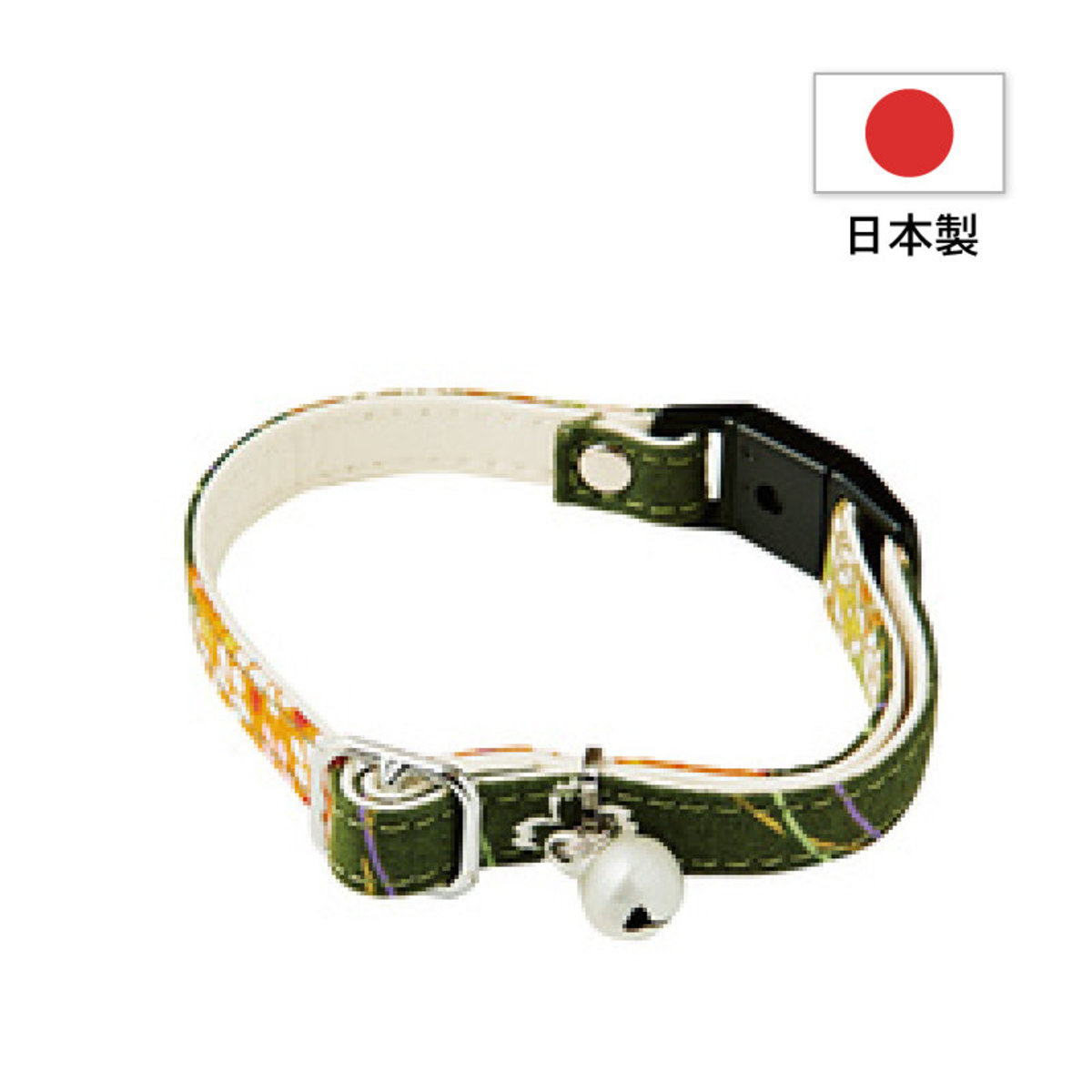 Add Mate和風貓頸帶.櫻花(綠色) #J27 (A55027)