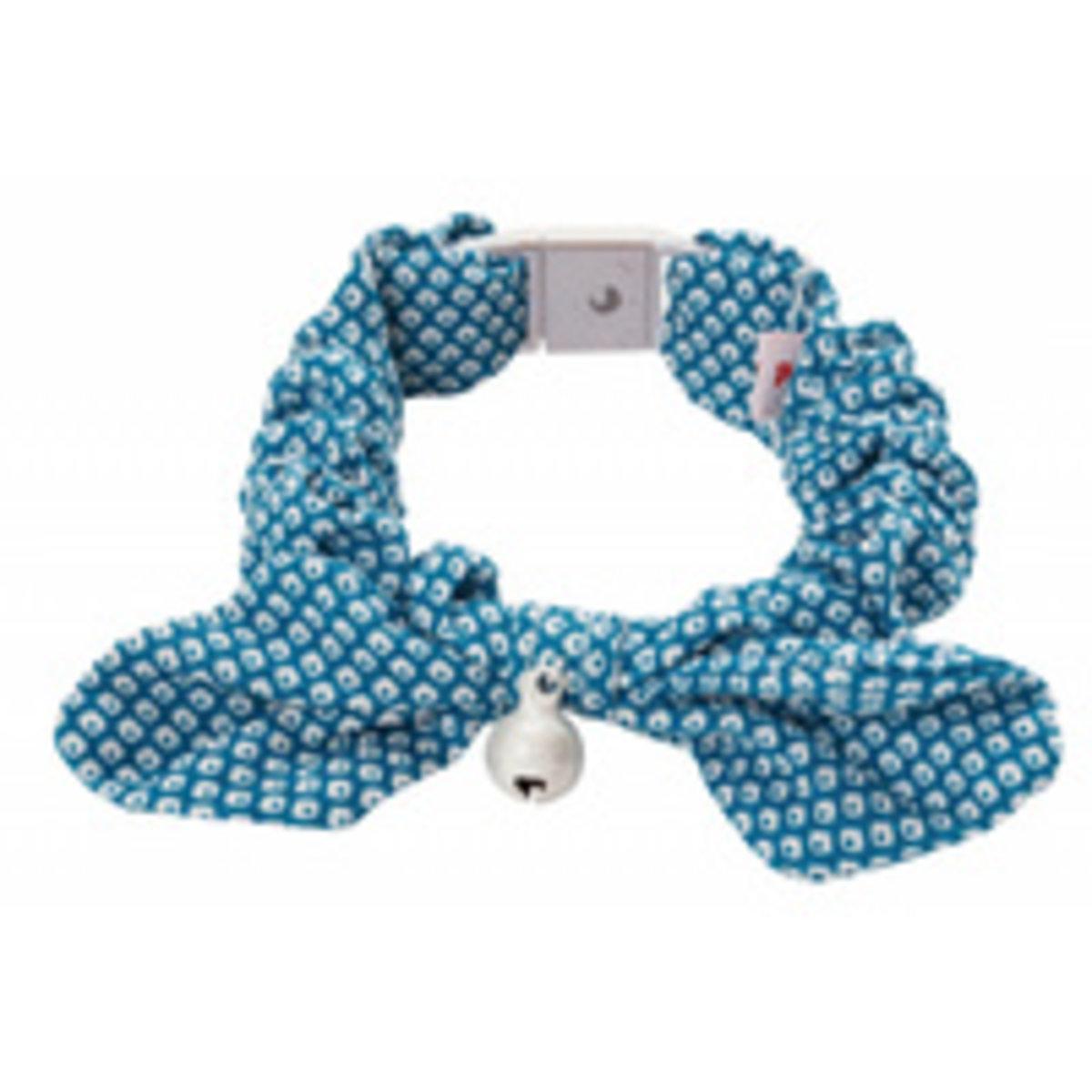 田園風蝴蝶結貓頸帶.鹿紋(藍色) #J44 (W55267)