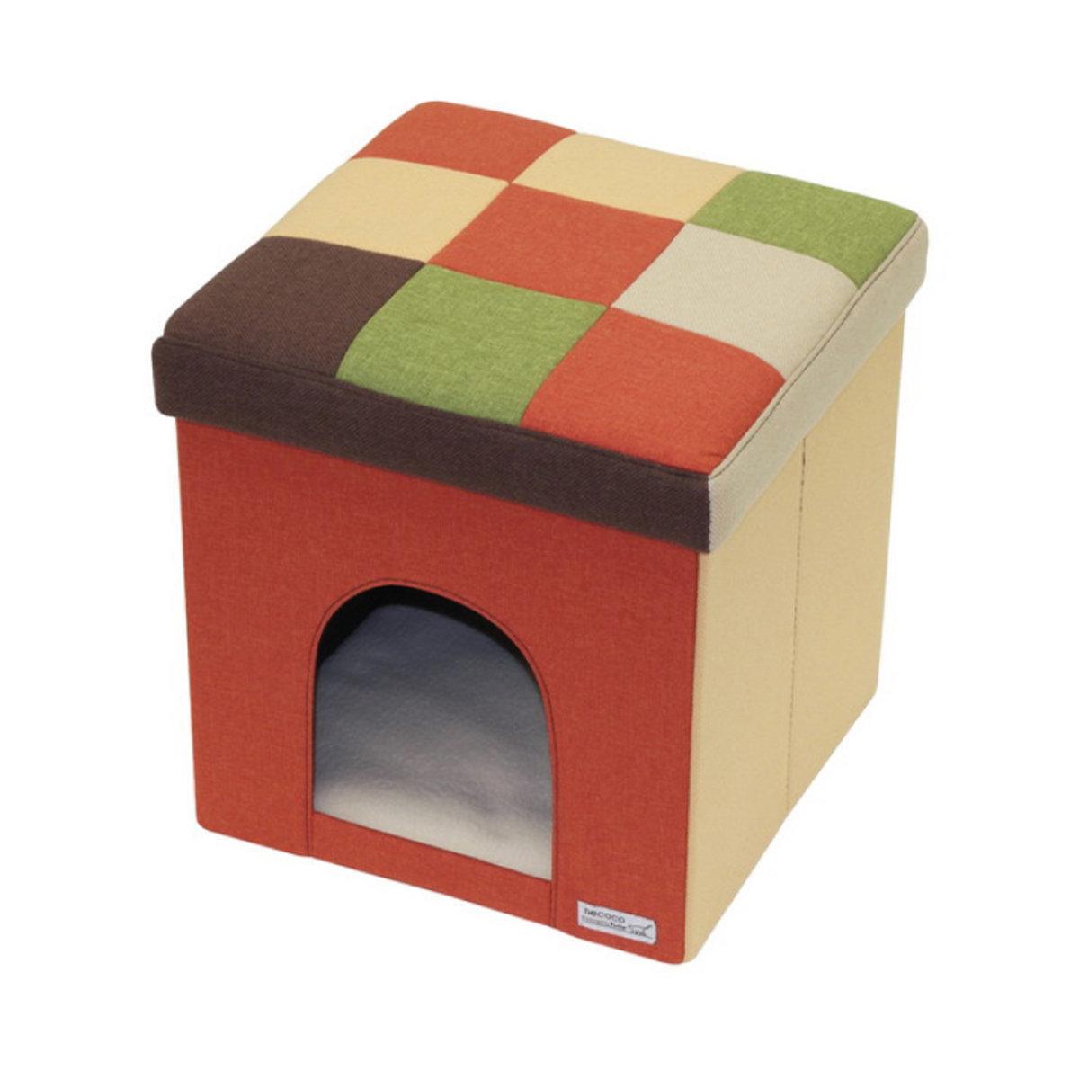 necoco House & Stool Orange Mosaic Regular #F106(W25494)
