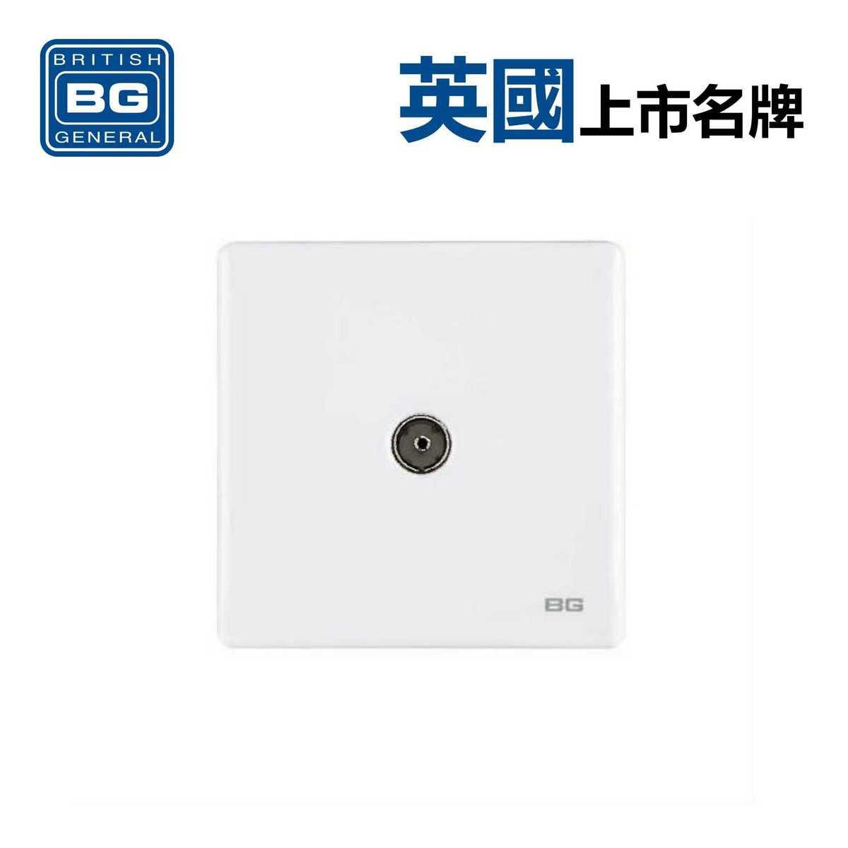 1位同軸插座 -白色 (型號 : PCWH60)