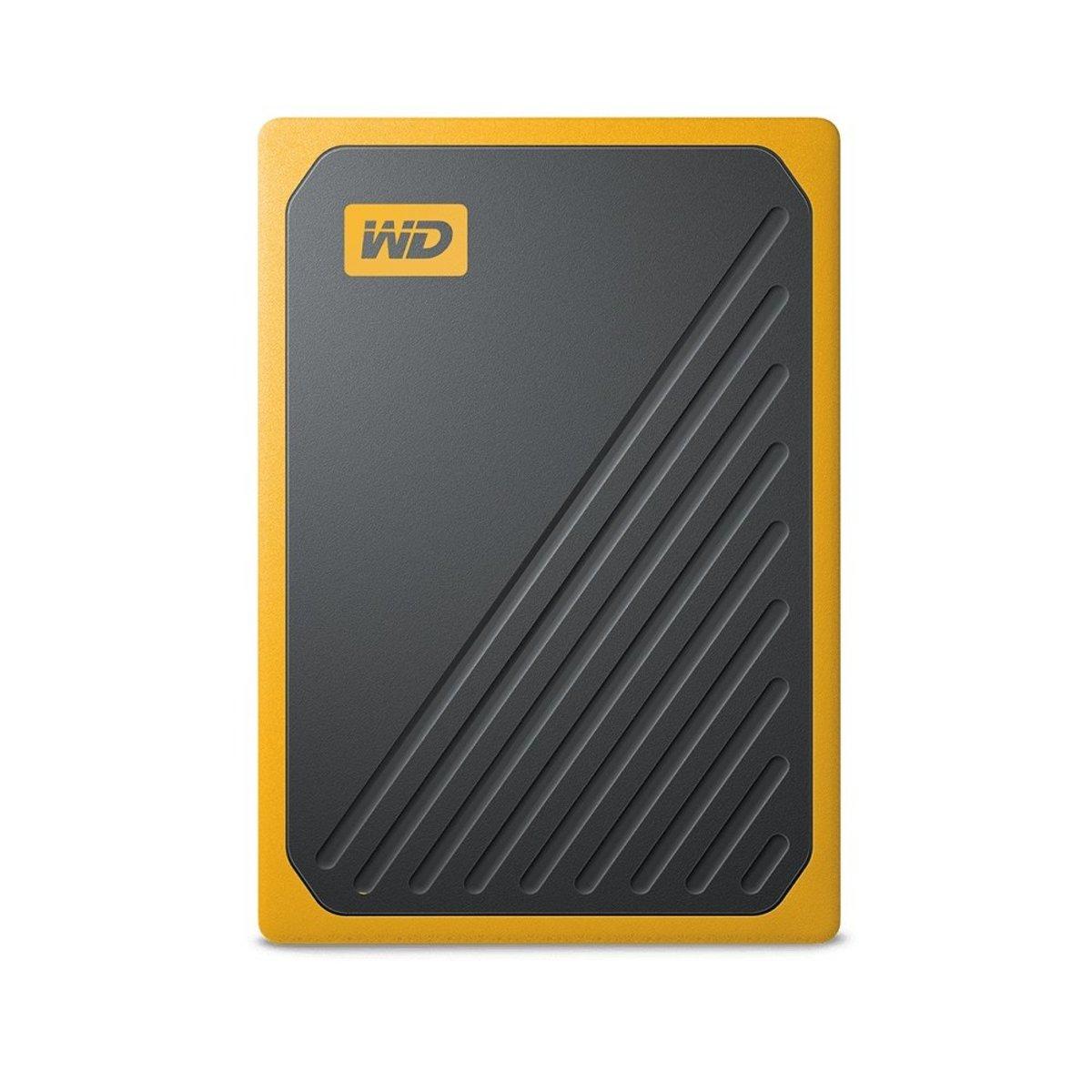 My Passport Go Portable SSD 1TB, 400MB/s, 內置數據線 可攜式硬碟 (黃色)