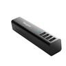 APA750AP TURBO QUAD USB TRAVEL CHARGER (BLACK)