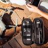 配件簡約整理‧旅遊精巧輕便‧多間隔配件包 - 黑