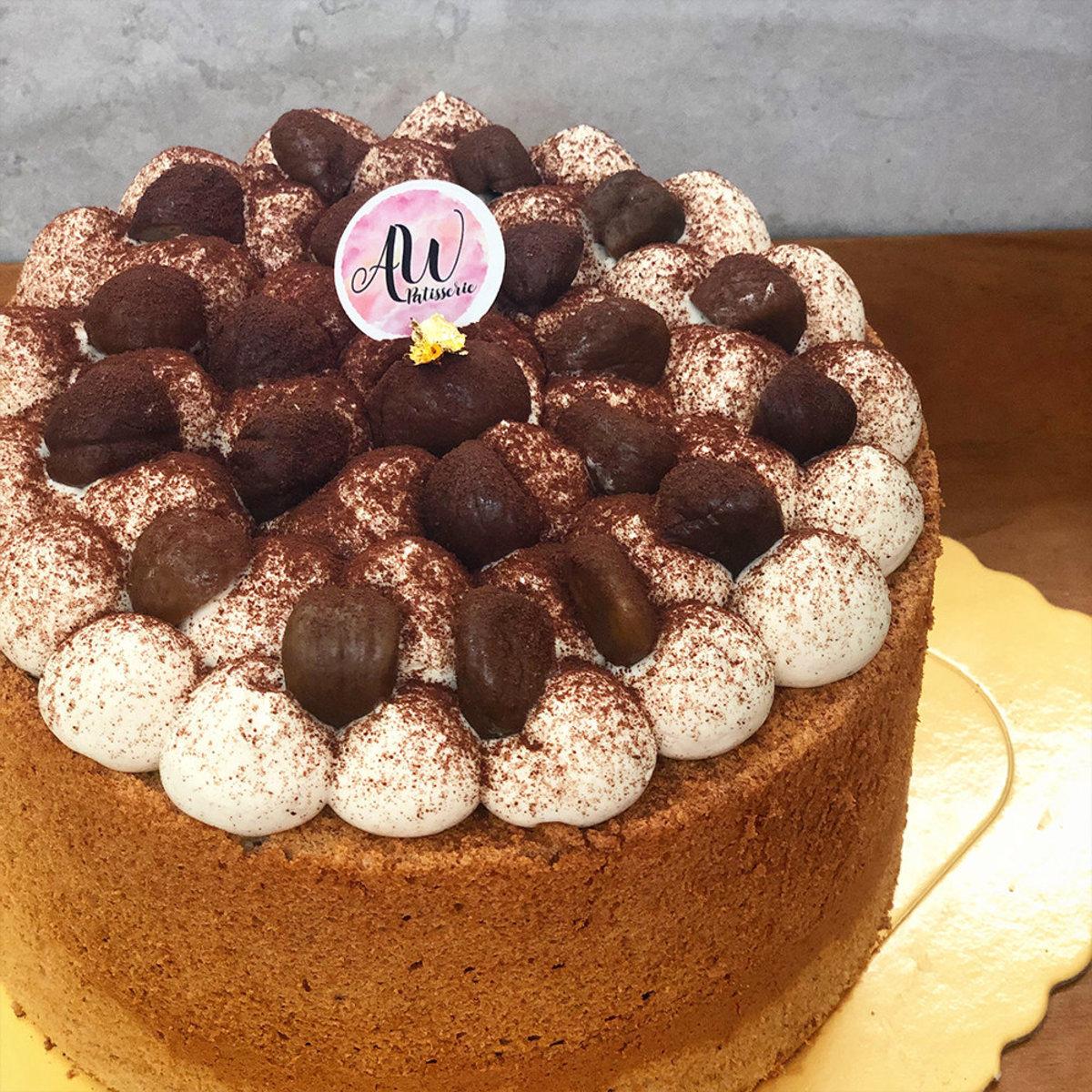 "Autumn Lava Chestnut 8"" Chiffon cake"