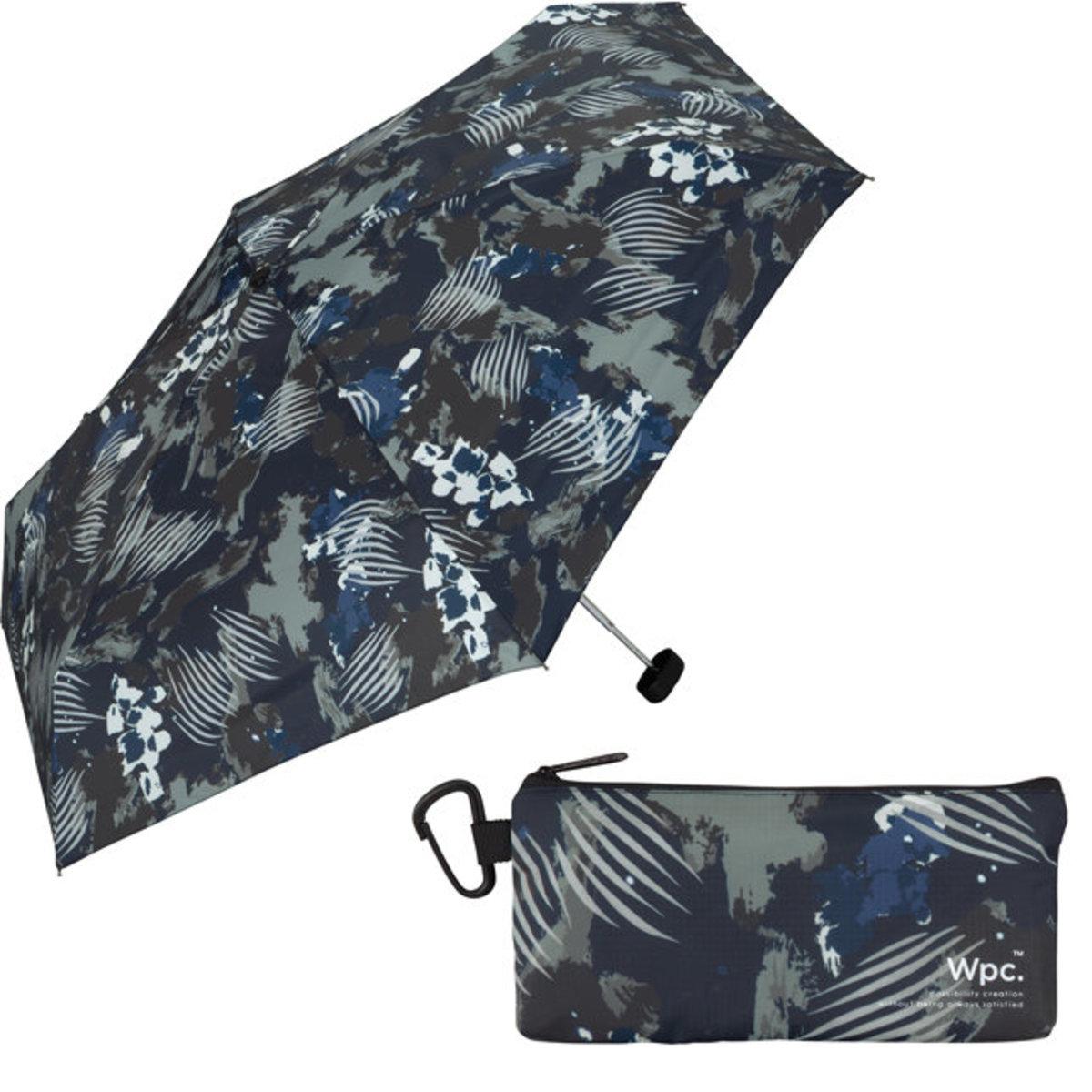 防紫外光‧傘袋附登山扣‧Ripstop系列伸縮雨傘 深藍繪圖