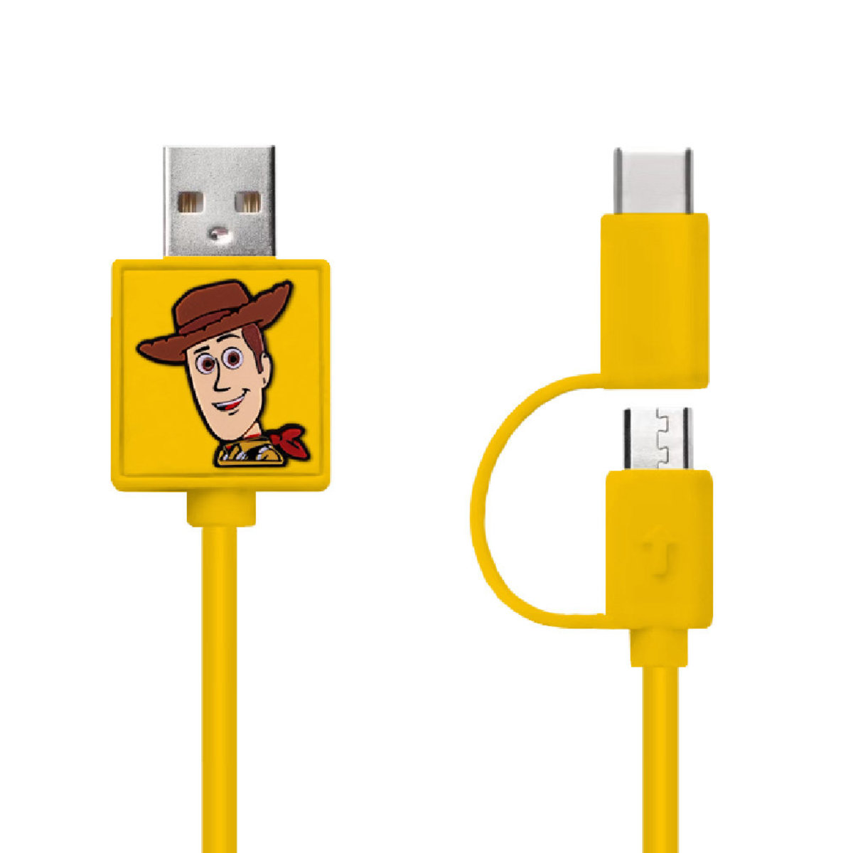 Disney Woody 2 IN 1 (Micro USB &Type C Cable) [Licensed by Disney]