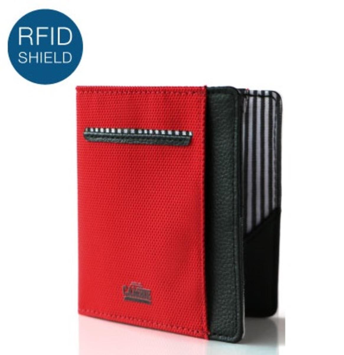 RFID 錢包 紅色 / 黑色 FLIP WOLYT 禮盒裝