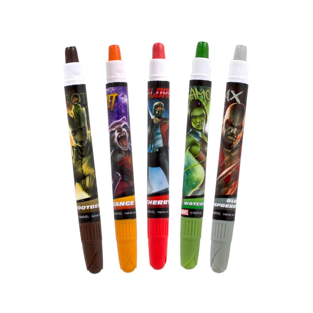 漫威的銀河啫利蠟筆守護者5件裝
