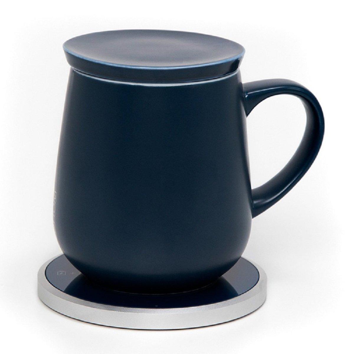 KOPI Mug Set - DEEP NAVY - with wireless Qi Charging Pad