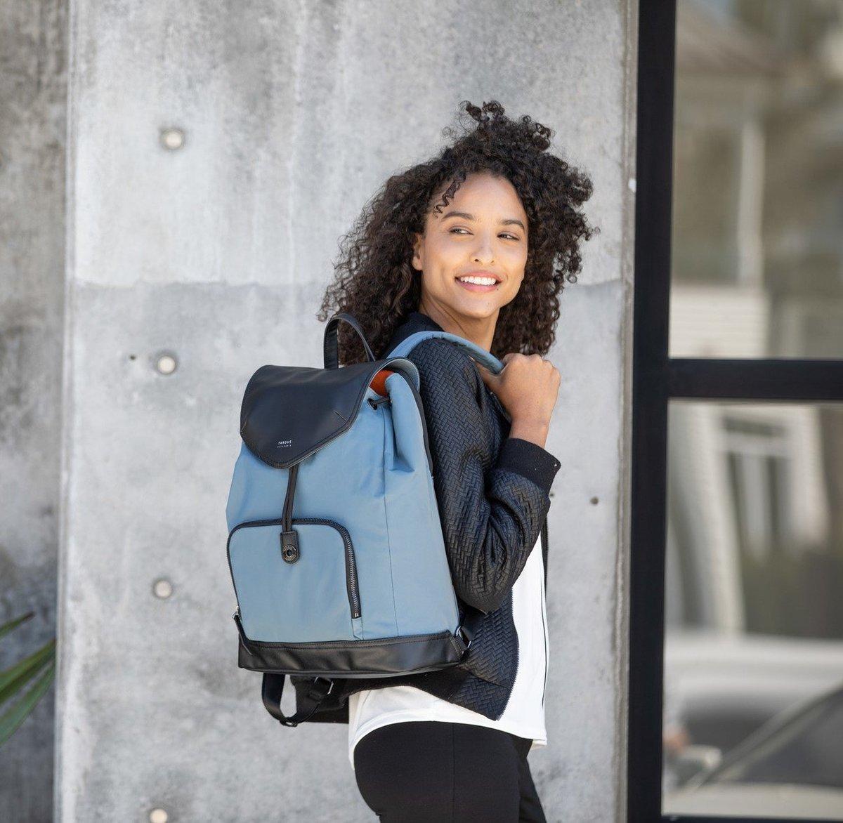 Newport Drawstring Backpack Slate Blue TSB96403