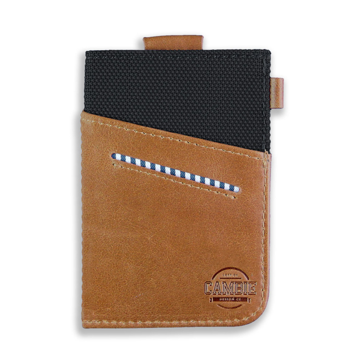 Slim Card Wallet Black Brown WOLYT Sleeve in Gift Box WSC-000001