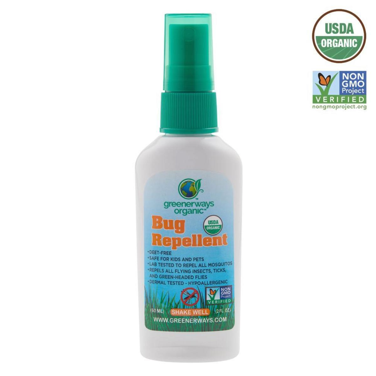 Greenerways Organic Bug Spray 60ml