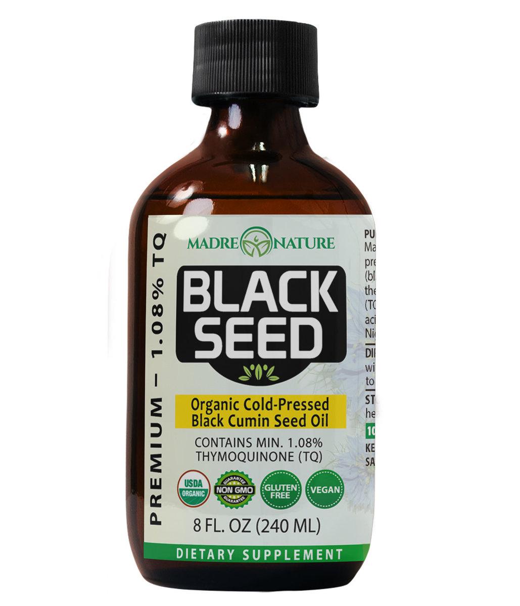 Madre Nature Orgainc Cold-Pressed Black Cumin Seed Oil 8oz