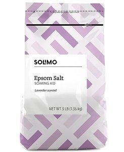Solimo 【薰衣草】 鎂鹽/瀉鹽/愛生鹽/含硫浴鹽 (放鬆/舒緩肌肉疼痛/勞損) 3磅