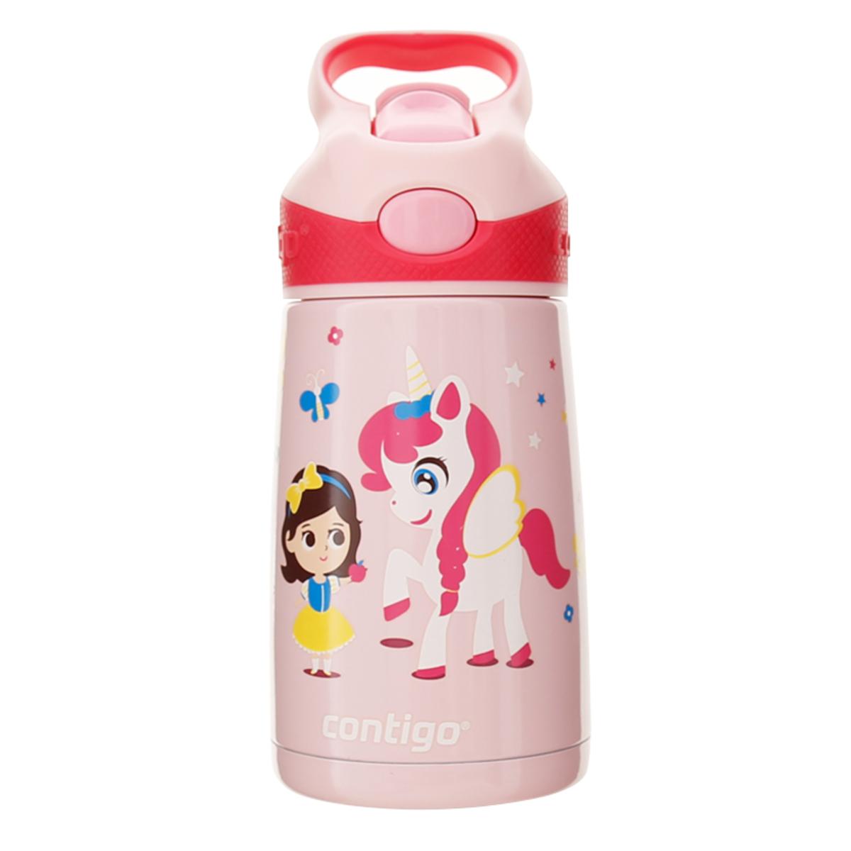 310ml Stiker 兒童不銹鋼吸管杯 - 小白馬與女孩