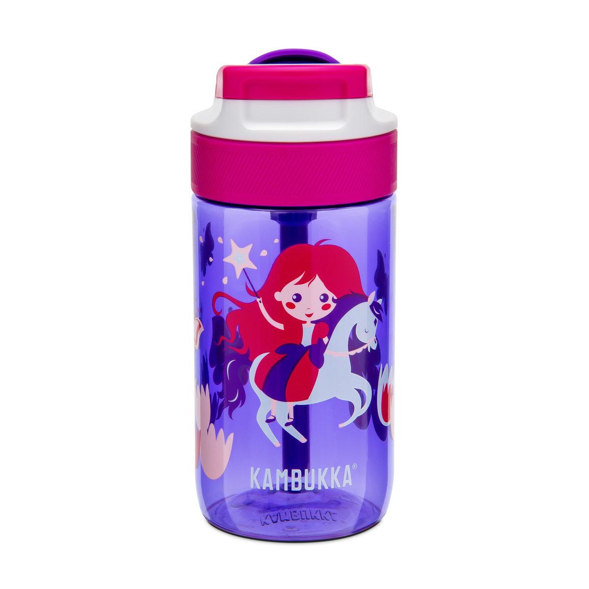 Kambukka 藍湖兒童吸管杯 (Tritan) 14oz (400ml) – 紫羅蘭色+魔術公主圖案