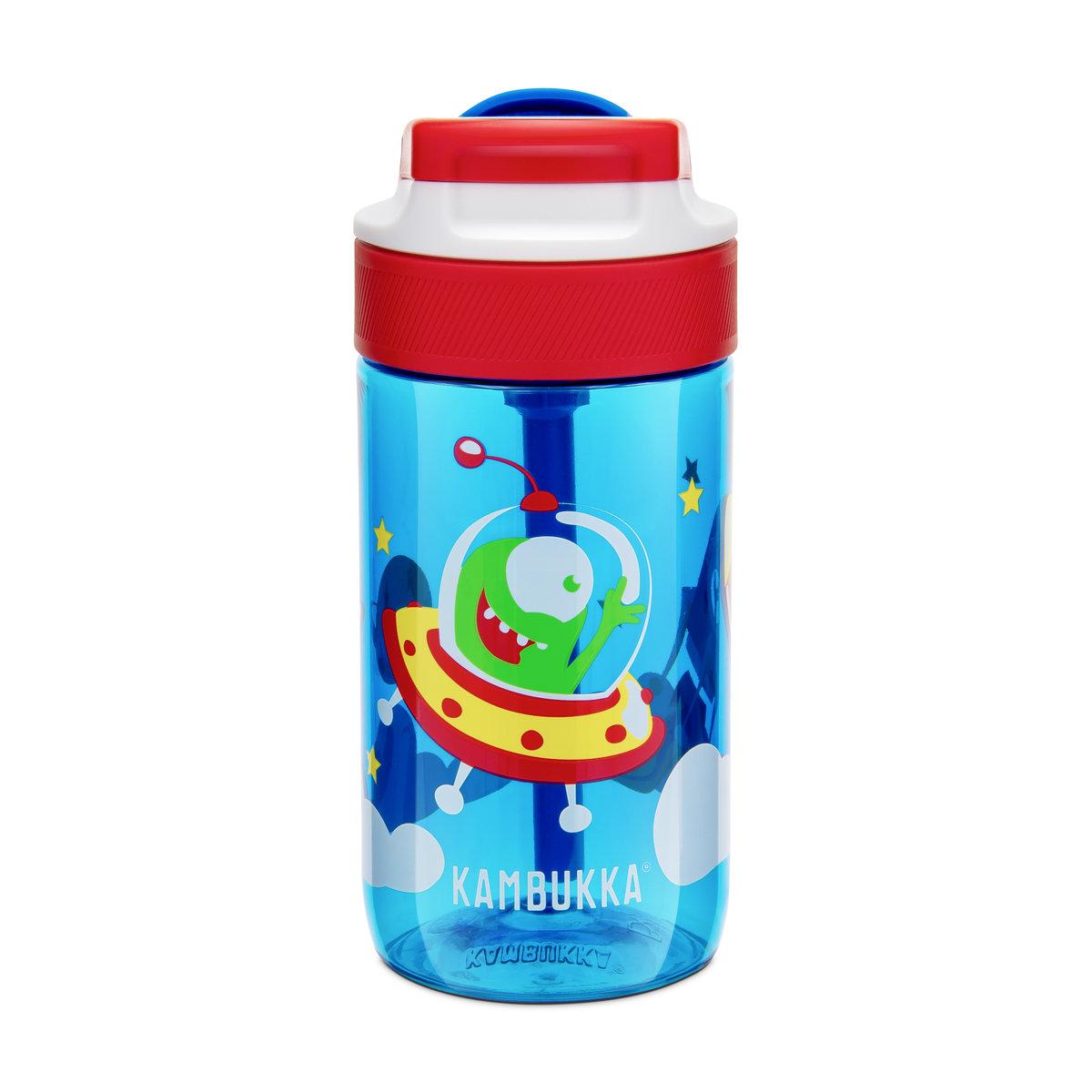 Kambukka 藍湖兒童吸管杯 (Tritan) 14oz (400ml) – 天空藍色+愉快外星人圖案