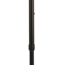 Light Metal Adjustable Walking Stick with Right-Handed Acrylic Handle